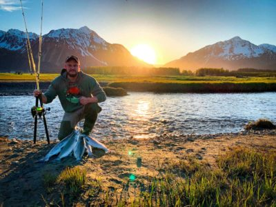 Fishing for salmon in Seward, Alaska