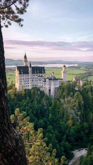 Picturesque scenery at Neuschwanstein Castle in Germany