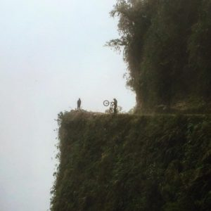 Mountain biking down the famous Death Road, Bolivia