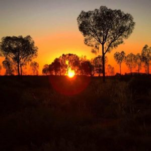 Seeing the blood red sun rise across the Australian Outback